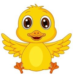 Cute baby duck cartoon vector image vector image