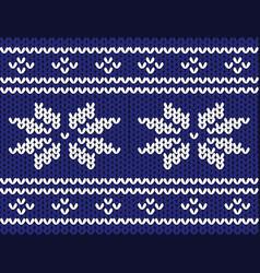 winter sweater pattern vector image
