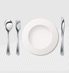 cutlery on the table vector image