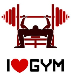 I Love Gym Symbol vector image vector image