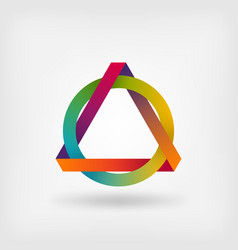 Interlocked triangle and ring vector