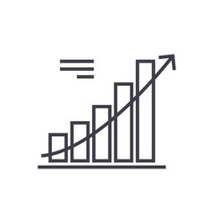 line chart line icon sign on vector image vector image