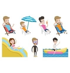 Set of traveling people vector