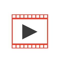 strip film play movie cinema symbol vector image