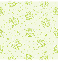 frog seamless background vector image vector image