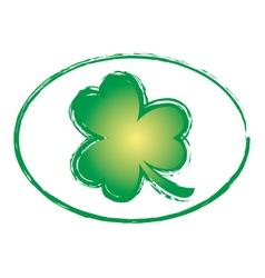 Green Shamrock Grunge Stamp 2 vector image