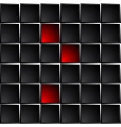 Industrial and technological dark background vector image
