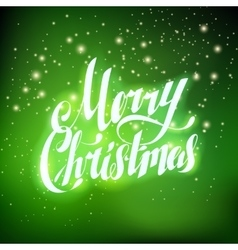 Merry Christmas Hand Lettering Greating Card vector image