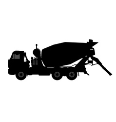 Silhouette of a concrete mixer vector image