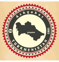 Vintage label-sticker cards of Turkmenistan vector image vector image