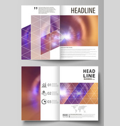business templates for bi fold brochure magazine vector image vector image