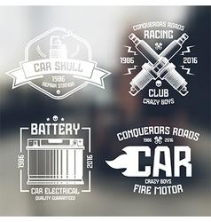 Car repair and racing emblems vector image vector image