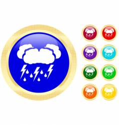 thunderstorm icons vector image