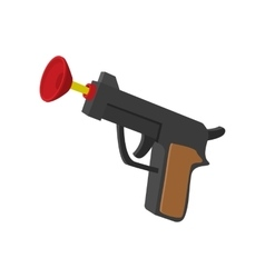 Toy gun with suction cup cartoon icon vector image vector image