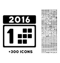 2016 Year First Day Icon vector