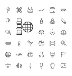 33 collection icons vector