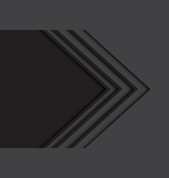 abstract black arrow line on gray with blank vector image