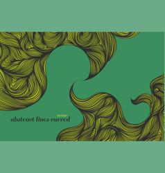 Abstract green art pattern vector