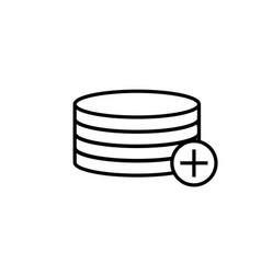 add to database icon vector image