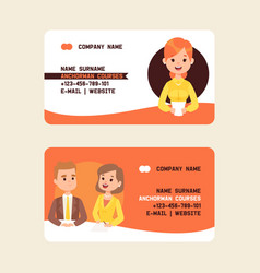 anchorman securities stock courses business cards vector image