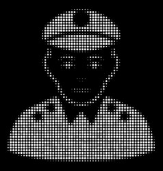 Army general halftone icon vector