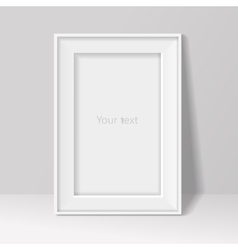 blank frame on white wall background vector image