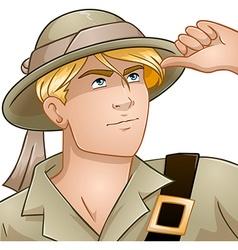 Blond Nature Explorer vector