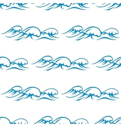 Blue ocean waves seamless pattern vector