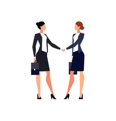 Businesswomen shake hands isolated vector