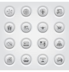 Button Design Business Icons Set vector