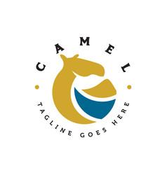 camel logo vector image
