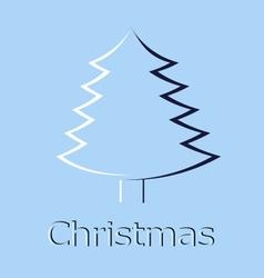 christmas tree christmas card vector image