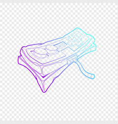 classic retro gempad icon old stylized play vector image
