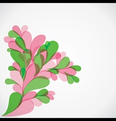 Colorful flora background vector