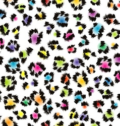 Colorful leopard fur background vector image