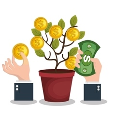 crowd funding concept icon vector image