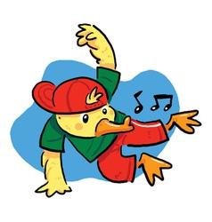 Dancing Duck vector image