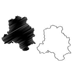 delhi map vector image