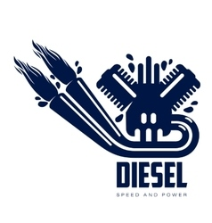 Design logo motor gasoline vector