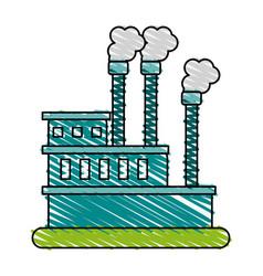 Factory cartoon doodle vector