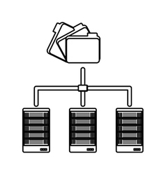 figure shared archived folders data center vector image