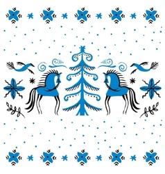 Folk background Winter vector