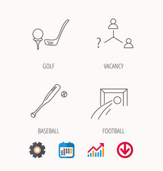 Football golf and baseball icons vector
