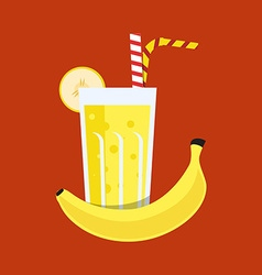 Fresh Banana Juice Drink vector image