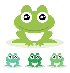 frogs vector image vector image