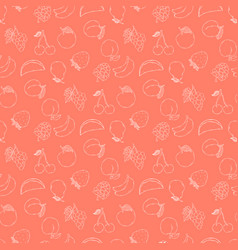 fruits pattern hand draw vector image