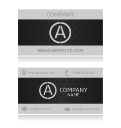 Grey card vector image