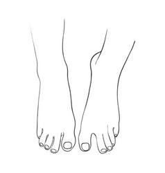 Hand drawn women foot vector