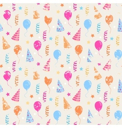 Happy birthday grunge pattern vector image