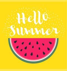 Hello summer inscription on the background vector